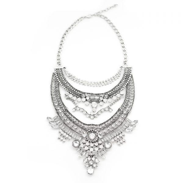 Allisandra boho statement necklace.