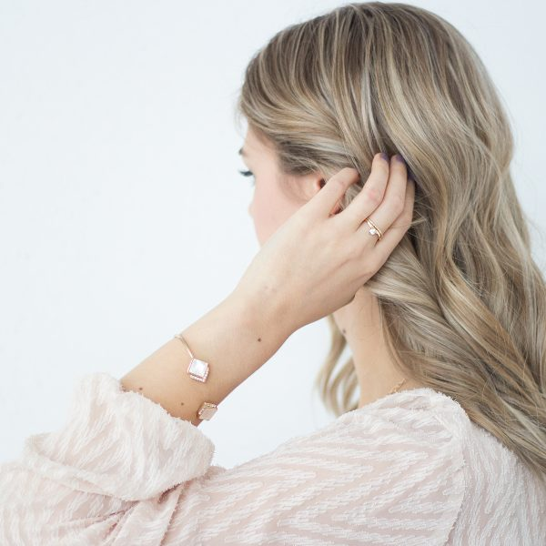 Pave shell detail cuff