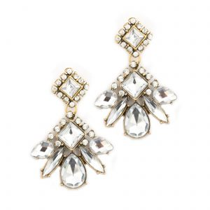 Arlette gold and crystal earrings