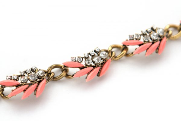 Bright coral pink statement bracelet