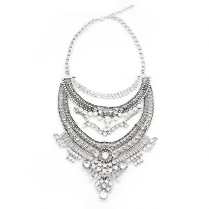 Allisandra boho statement necklace.