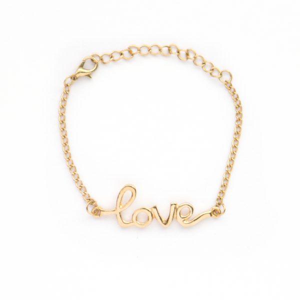 Gold love bracelet.