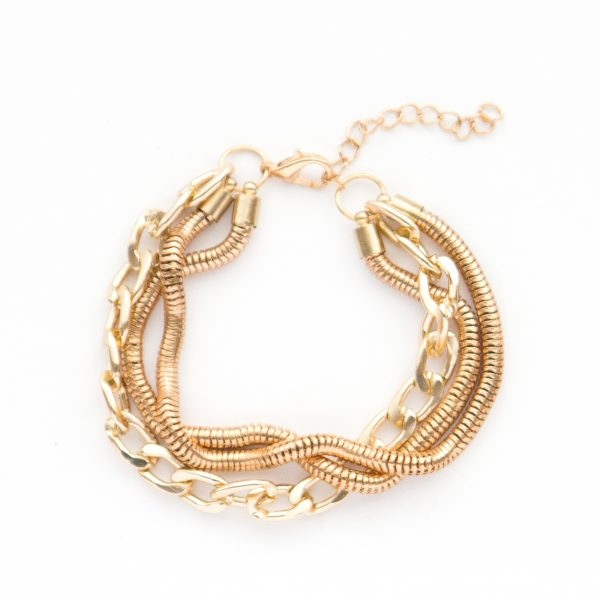Harlow gold multi chain bracelet.